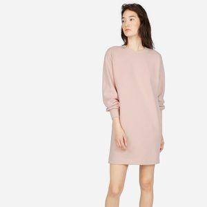 EVERLANE Women's Pink Classic Terry Crew Neck Oversized Sweater Dress Size XS